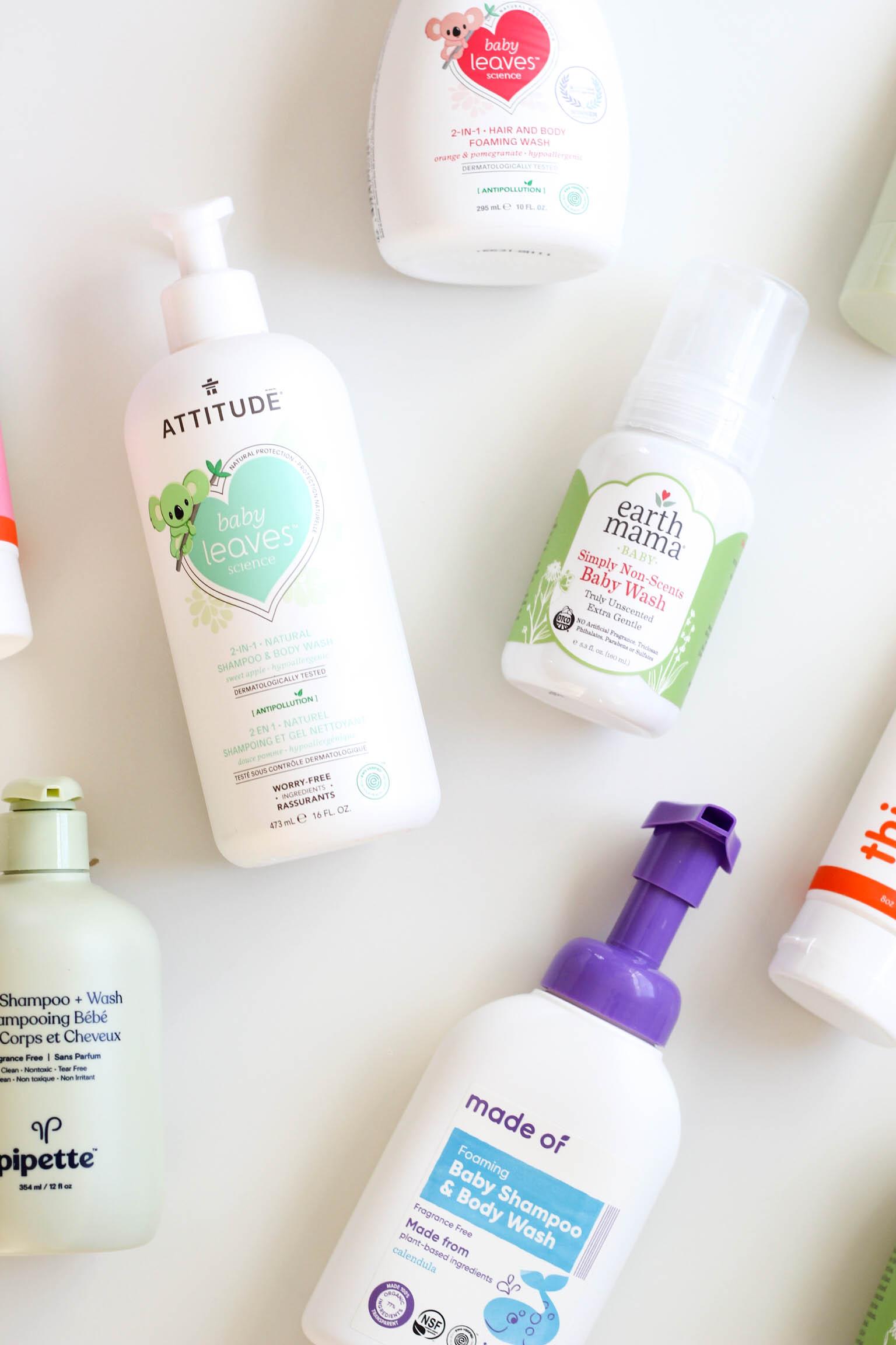 clean baby shampoo